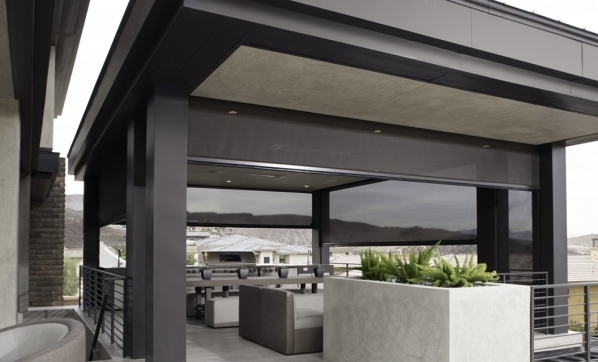 The outdoor kitchen. COURTESY