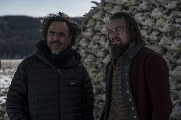 DF-18887 þÄì Director Alejandro G. I'€¡Â±'€¡Âºrritu and Leonardo DiCaprio on location for THE REVENANT. Photo Credit: Kimberley French Copyright © 2015 Twentiet ...