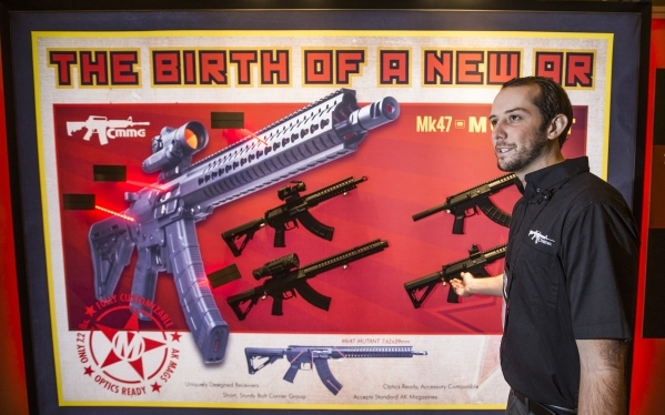 Von Davis explains the the latest line of rifles in the CMMG during the Shot Show at the Sands Expo on Tuesday, Jan. 19, 2016. Jeff Scheid/Las Vegas Review-Journal Follow @jlscheid