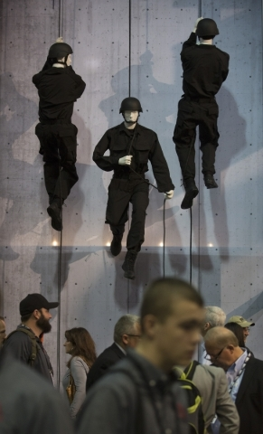 Mannequins repelling are seen at the Bates Footwear booth  during the Shot Show at the Sands Expo on Tuesday, Jan. 19, 2016. Jeff Scheid/Las Vegas Review-Journal Follow @jlscheid