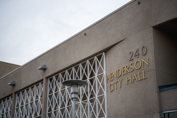 The exterior of Henderson City Hall is seen on Tuesday, Jan. 19, 2016. Joshua Dahl/Las Vegas Review-Journal