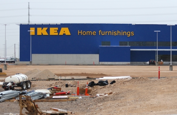 IKEA is shown at the northern side of the 215 Beltway at Durango Drive near Sunset Road Tuesday, Jan. 19, 2016, in Las Vegas. The popular Scandinavian home furnishing store announced Tuesday it ha ...