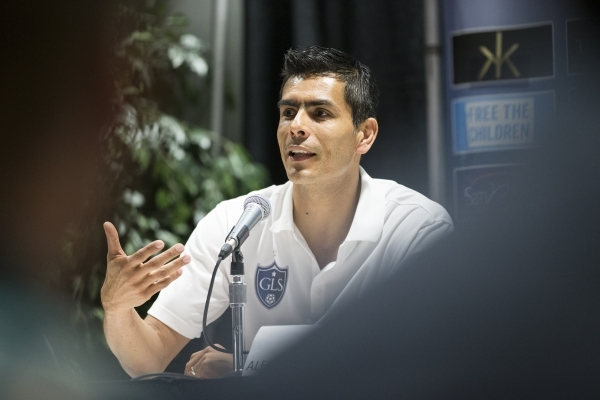 Former professional soccer player Oswaldo Sanchez speaks during a Global Legends Series press conference on Jan. 21, 2016, in Las Vegas. Erik Verduzco/Las Vegas Review-Journal Follow @Erik_Verduzco