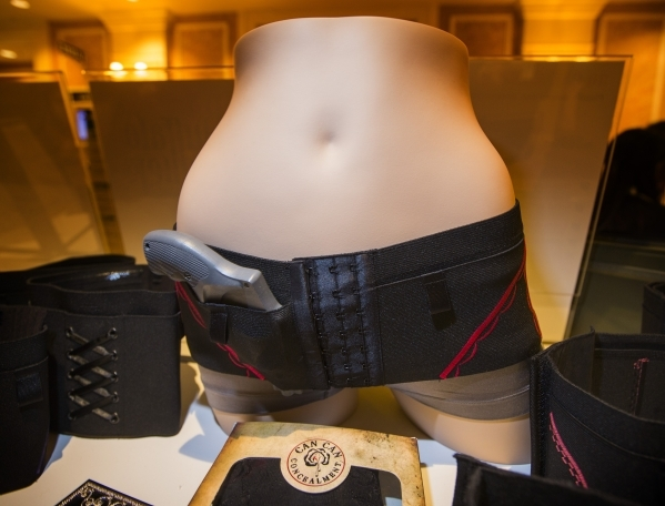 Can Can Concealment Hip Hugger Holster on display during the Shot Show at the Sands Expo on Tuesday, Jan. 19, 2016. Jeff Scheid/Las Vegas Review-Journal Follow @jlscheid