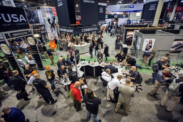 A view of the Shot Show at the Sands Expo on Wednesday, Jan. 20, 2016. Jeff Scheid/Las Vegas Review-Journal Follow @jlscheid