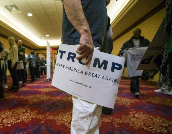 Supporters line up  to hear Donald Trump speak  at the  South Point, 9777 South Las Vegas Boulevard, on Thursday, Jan. 21, 2016. Jeff Scheid/Las Vegas Review-Journal Follow @jlscheid