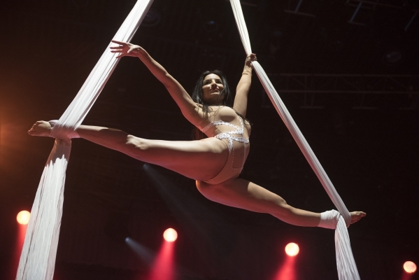 Aerial dancer Julita Palomera performs during the AVN Adult Entertainment Expo 2016 at the Hard Rock Hotel & Casino in Las Vegas Saturday, Jan. 23, 2016. Jason Ogulnik/Las Vegas Review-Journal
