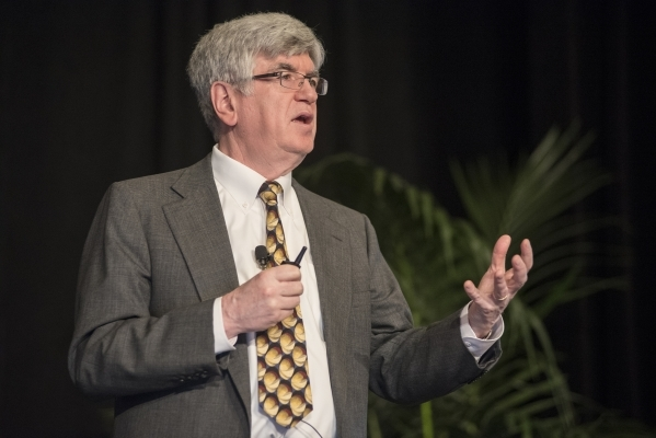 Professor of Economics Dr. Stephen P.A. Brown speaks during the UNLV Center for Business & Economic Research biannual conference June 25, 2015, at the Sands Expo and Convention Center in Las V ...