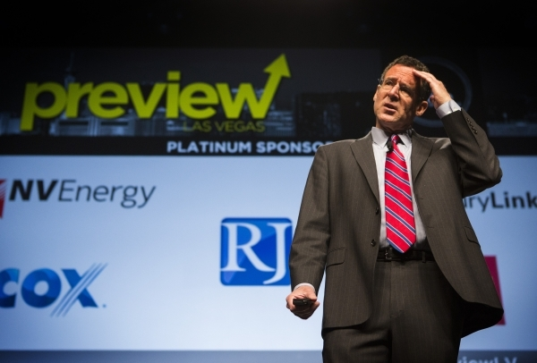 Dr. Rob Lang,executive director, Brookings West, speaks during Preview at the Cox Pavilion on the UNLV Campus, on Friday, Jan. 29,2016. Jeff Scheid/Las Vegas Review-Journal Follow @jlscheid