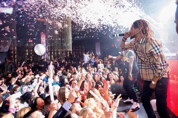 Fetty Wap performs New Year's Eve 2015 at Marquee nightclub in The Cosmopolitan. (Courtesy Al Powers/Powers Imagery)