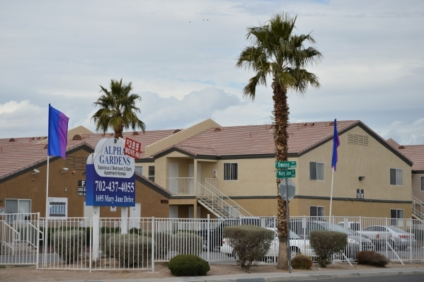 Metro is investigating a homicide that occurred early Saturday morning at Alpha Gardens Apartments on Mary Jane Drive near North Nellis Boulevard and East Owens Avenue on Saturday, Jan. 23, 2016,  ...