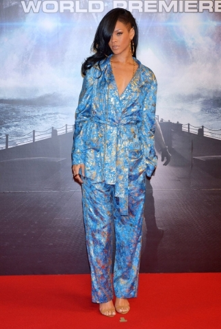 TOKYO, JAPAN - APRIL 03:  Actress/singer Rihanna attends the 'Battleship' Japan Premiere at International Yoyogi first gymnasium on April 3, 2012 in Tokyo, Japan.  (Photo by Koki Nagah ...