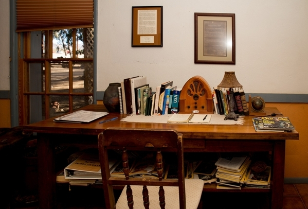 A desk in one of the Nipton Hotel guest rooms. TONYA HARVEY/REAL ESTATE MILLIONS