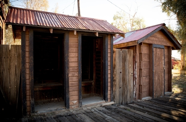 The former schoolhouse had two toilet stalls with half-size doors in the back.  TONYA HARVEY/REAL ESTATE MILLIONS