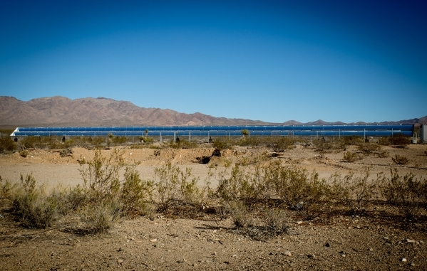 Solar panels, tilted to capture the sun's path, were placed on either side of the highway. The system provides  as much as 45 percent of the power needed in the town. TONYA HARVEY/REAL ESTAT ...