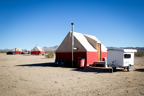 One of the eco-lodges on the townsite. TONYA HARVEY/REAL ESTATE MILLIONS