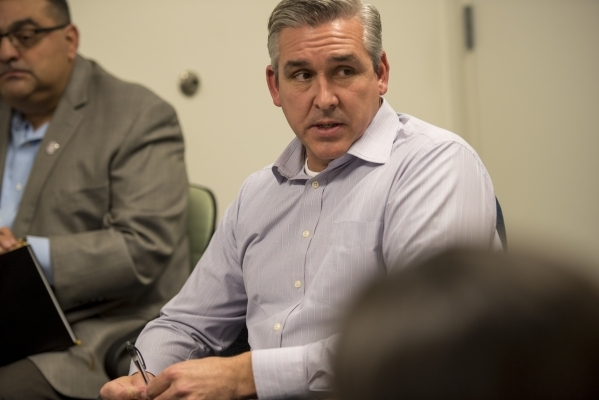 Chris Magee, a chairmember of the Conservation District of Southern Nevada, speaks during a board meeting at the USDA Service Center in Las Vegas on Thursday, Jan. 28, 2016. Joshua Dahl/Las Vegas  ...