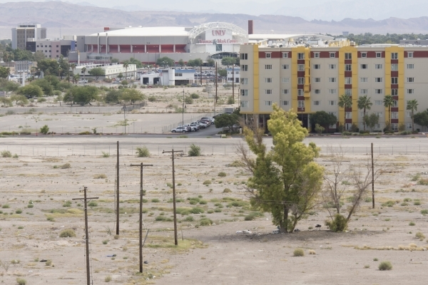 A vacant 42-acre lot near Koval Lane and Tropicana Avenue is a proposed site for a new UNLV stadium in Las Vegas Thursday, Oct. 1, 2015. Jason Ogulnik/Las Vegas Review-Journal