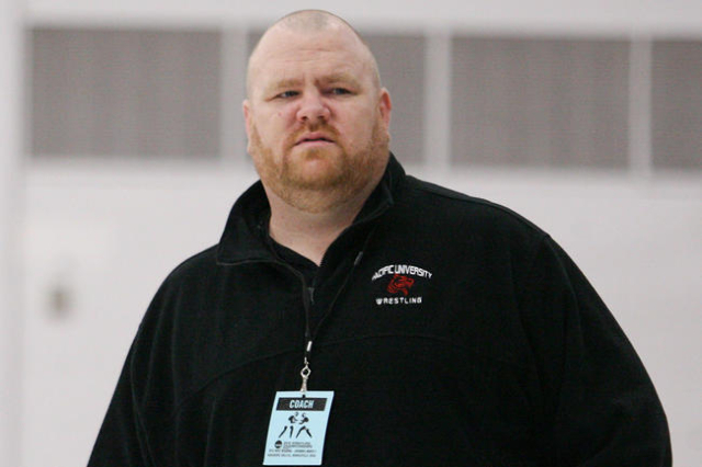 2012-13 Pacific University wrestling coach Severin Walsh. (Photo courtesy Pacific University)