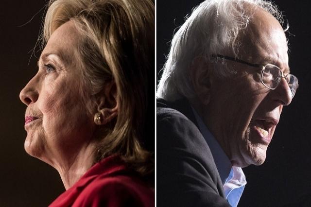 Hillary Clinton and Bernie Sanders (File)