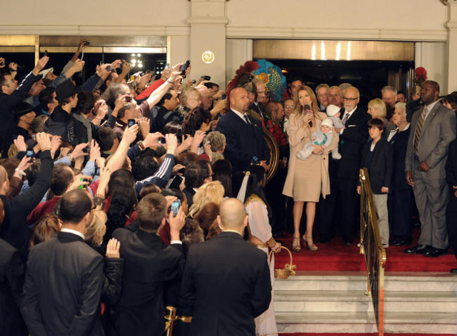 Celine Dion greets fans upon her arrival at Caesars Palace in Las Vegas on Feb. 16, 2011, to prepare for the March debut of her three-year engagement at The Colosseum at Caesars.Dion arrived with  ...