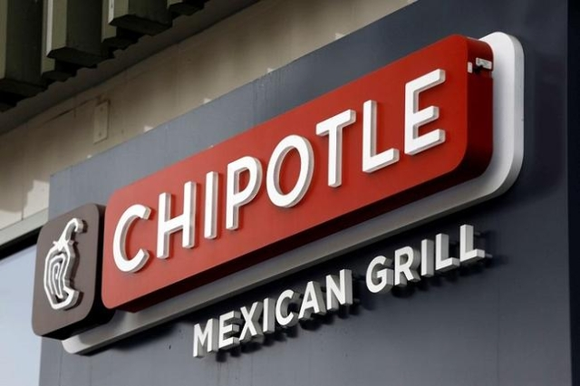 A sign is seen at a Chipotle Mexican Grill restaurant in San Francisco, July 21, 2015. (Robert Galbraith/Reuters Files)