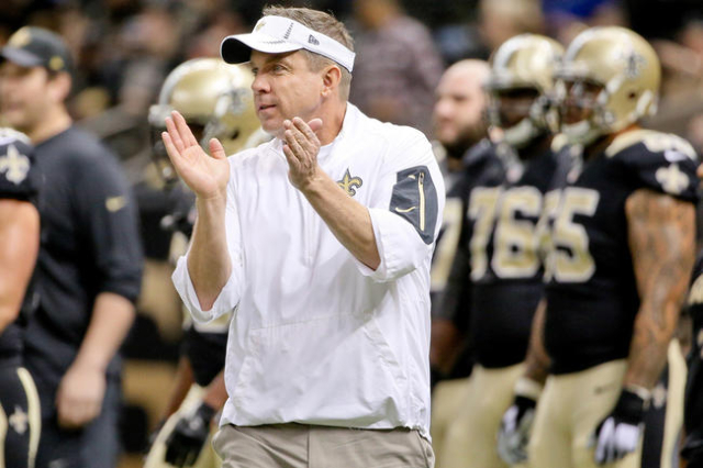 Dec 27, 2015; New Orleans, LA, USA; New Orleans Saints head coach Sean Payton reacts prior to a game against the Jacksonville Jaguars at the Mercedes-Benz Superdome. (Derick E. Hingle/USA Today Sp ...