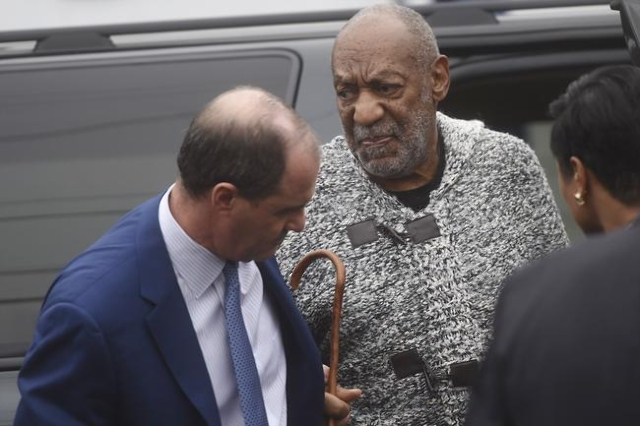 Bill Cosby arrives for his arraignment on sexual assault charges at the Montgomery County Courthouse in Elkins Park, Pa., on Dec. 30, 2015. (REUTERS/Mark Makela)