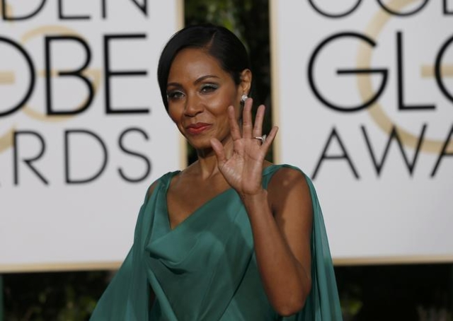 Actress Jada Pinkett-Smith arrives at the 73rd Golden Globe Awards in Beverly Hills, California January 10, 2016.  REUTERS/Mario Anzuoni