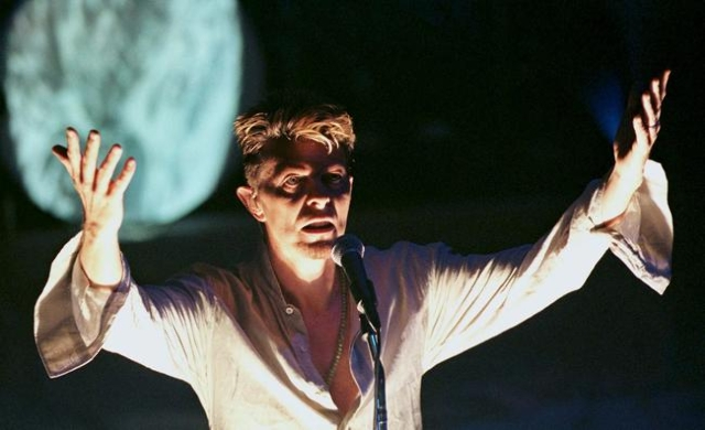 David Bowie, the main act of the MGD Blind Date concert, performs at the Vic Theater in Chicago, in this September 19, 1997 file photo. Singer Bowie has died after an 18-month battle with cancer,  ...