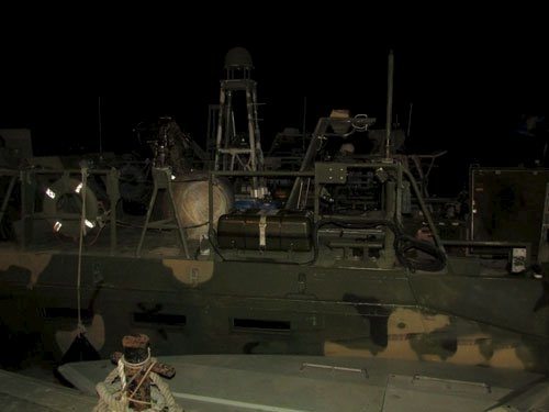 An undated picture released by Iran's Revolutionary Guards website shows the U.S. boat detained by Iran, in an unknown place, Iran. (sepahnews.ir/TIMA/Handout via Reuters)