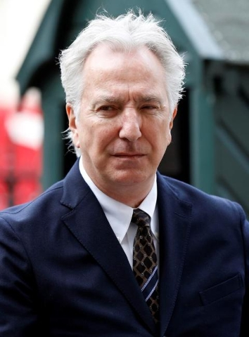 Actor Alan Rickman arrives for a memorial service for actor and director Richard Attenborough at Westminster Abbey in London March 17, 2015. REUTERS/Suzanne Plunkett