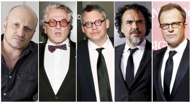 Oscar nominees for Best Director: Lenny Abrahamson, left, George Miller, Adam McKay, Alejandro Inarritu and Tom McCarthy. (Reuters)