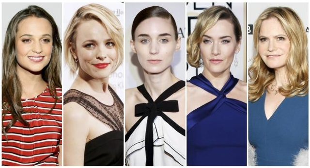 Oscar nominees for Best Supporting Actress: Alicia Vikander, left, Rachel McAdams, Rooney Mara, Kate Winslet, Jennifer Jason Leigh. (Reuters)