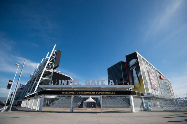 January 20, 2016; Santa Clara, CA, USA; General view of the exterior of Levi's Stadium prior to Super Bowl 50. (Kyle Terada/USA TODAY Sports)