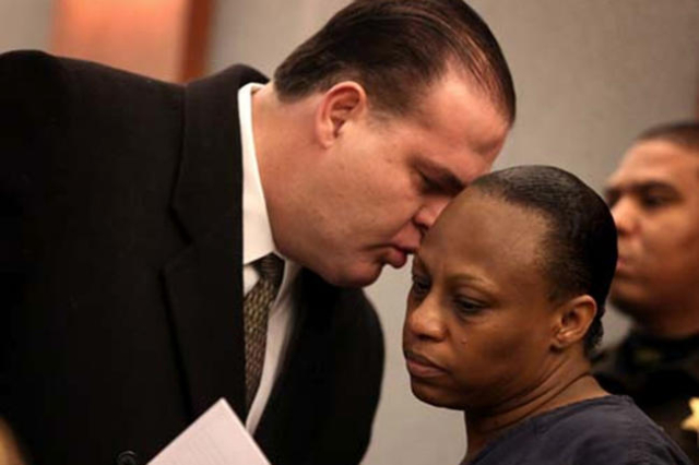 Brenda Stokes Wilson is seen in court in this undated file photo. (Las Vegas Review-Journal file)