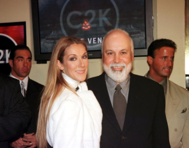 Celine Dion and Rene Angelil at the Venetian in Las Vegas on Dec. 11, 1999. (Darrin Bush/Las Vegas News Bureau)