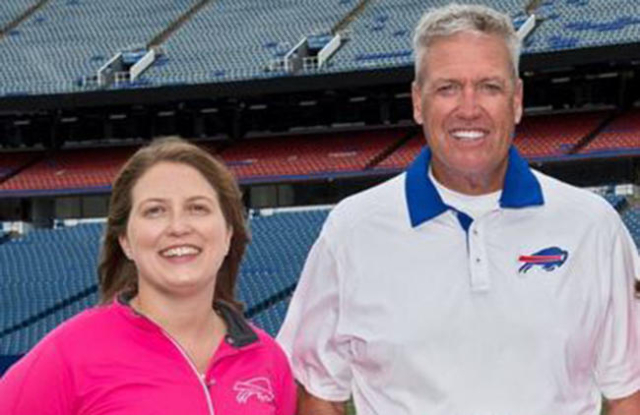 Kathryn Smith and Rex Ryan (Buffalo Bills, via Twitter)