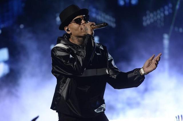 Chris Brown performs during the 2015 BET Awards in Los Angeles in June. (Kevork Djansezian/Reuters)