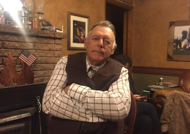Cliven Bundy sits inside his ranch house 10 miles south of Bunkerville during an interview Tuesday night, Jan. 26, 2016, about the arrest of his sons and death of LaVoy Finicum, of Moccasin, Ariz. ...