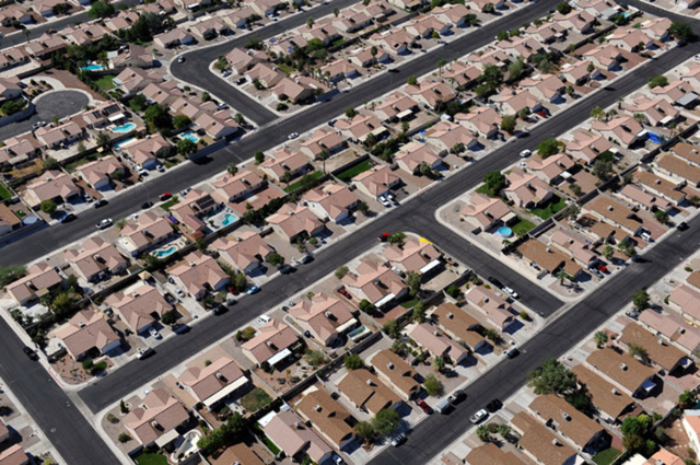 An aerial view of a North Las Vegas residential community on Tuesday, Sept. 9, 2014. (David Becker/Las Vegas Review-Journal)