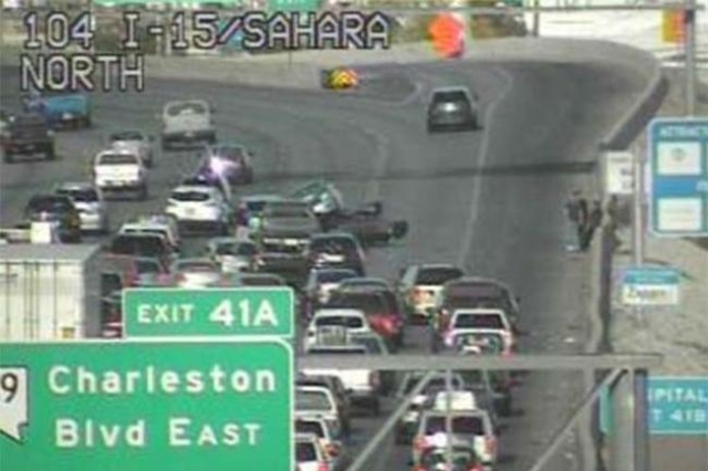 A crash on the I-15 NB before Charleston at 2:41pm caused major delays. (NDOT)