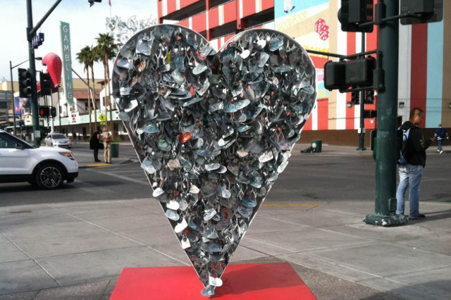 The Love Locket as seen at the Container Park in downtown Las Vegas on January 9, 2014. (Ashley Casper/Las Vegas Review-Journal)