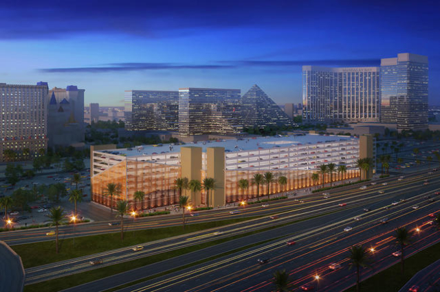 MGM Resorts International will build a $54 million, 3,000-space parking structure near the northwest corner of the Excalibur that will service the T-Mobile Arena, The Park, and the Theater at Mont ...