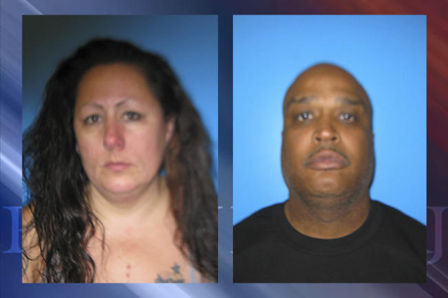 Desiree Lewis, 36 (left), and Lee Anthony Daniels, 46 (right). (Courtesy Nye County Sheriff's Office)