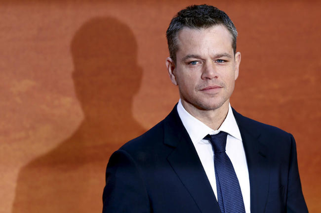 """Actor Matt Damon arrives for the UK premiere of """"The Martian"""" at Leicester Square in London, Britain, September 24, 2015. REUTERS/Stefan Wermuth"""