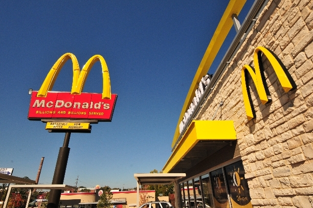 An exterior angle photograph of a new style McDonald's Restaurant. (CNN)