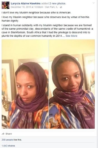 Larycia Hawkins, a professor at Wheaton College, caused a stir last month when she donned a Muslim head covering at the Christian school. Now the Illinois college has begun what's known as a ...