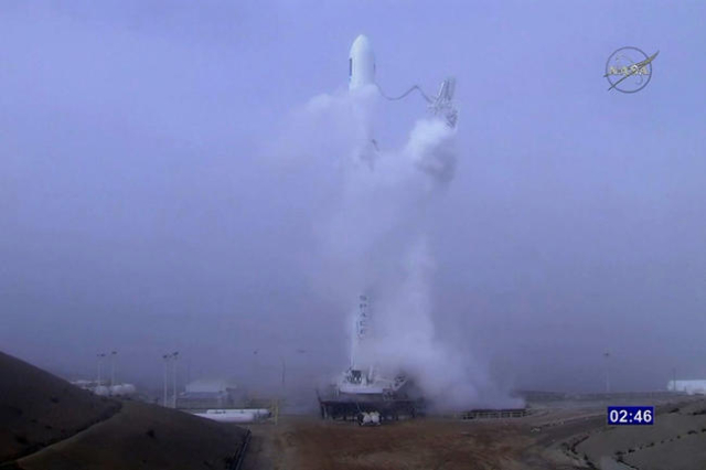 SpaceX's latest attempt to land a rocket upright on a platform in the Pacific Ocean failed in a spectacular fashion on Sunday. (NASA TV/CNN)