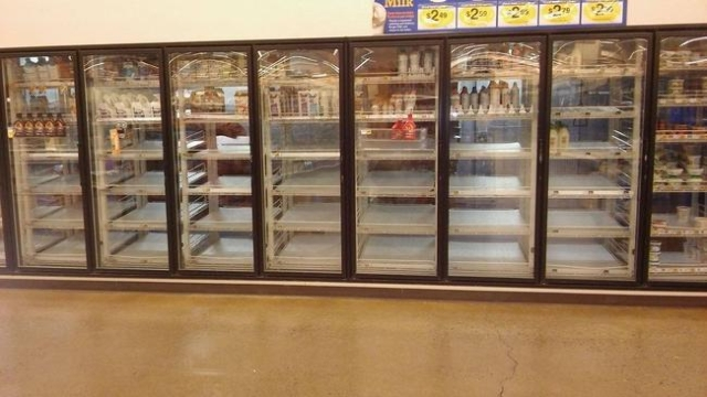 A monster snowstorm is coming to parts of the eastern U.S., and shoppers have already made a run on milk and bread. One Kroger store in Vinton, Va., is already dealing with empty store shelves. (CNN)